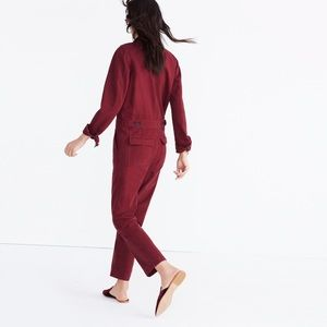 3bb06ec85b6 Madewell Pants - Madewell coverall jumpsuit burgundy xs